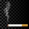 Векторный клипарт: Горящей сигареты на клетчатый фон