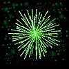 Векторный клипарт: Зеленые огни фейерверка