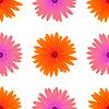 Векторный клипарт: Весна Розовые Оранжевые цветы
