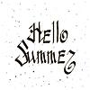 Векторный клипарт: Фраза Hello Summer