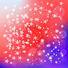 Векторный клипарт: Американский флаг как гранж-фон