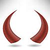 Векторный клипарт: Хэллоуин Красный Horns