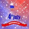 Векторный клипарт: Американский флаг звездным фоном