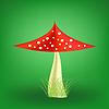Векторный клипарт: Ядовитый гриб. мухомор