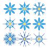 Векторный клипарт: Круглые геометрические орнаменты