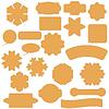 Векторный клипарт: Набор коммерческих Наклейки Значки и элементы