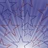 Векторный клипарт: Звездная волна синий фон