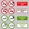 Векторный клипарт: Не курить, сигареты, дымовые Запрещенные символы