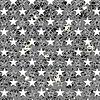 Векторный клипарт: Звездное Grunge серый фон
