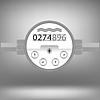 Векторный клипарт: Водомер. Прибор для измерения воды Cosumption