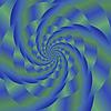 Векторный клипарт: Цветные спираль фона. Fractal Pattern