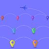 Векторный клипарт: Самолет Icon. Летний отпуск