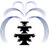 Векторный клипарт: Ретро фонтан Силуэт Иконка