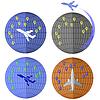 Векторный клипарт: Набор Самолет иконки. Путешествие на самолете