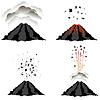 Векторный клипарт: Извержение вулкана. Пик горы. Огненное Crater