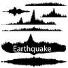 Векторный клипарт: Землетрясение Волна Зафиксировав бумаги. Аудио Wave Set