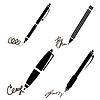 Векторный клипарт: Подпись, ручка, карандаш иконки