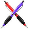 Векторный клипарт: Набор красочных ручки