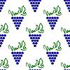 Векторный клипарт: Виноград Бесшовные шаблон. Vine фона