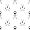 Skull Cross Bones Seamless Pattern