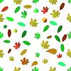 Nahtlose Verschiedene Blätter-Muster