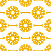 Векторный клипарт: Набор желтых костей. Бесшовные шаблон