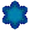 Векторный клипарт: Многоугольная синий символ