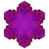 Векторный клипарт: Многоугольная Розовый Символ
