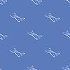 Векторный клипарт: Бесшовные самолета синий фон