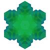 Векторный клипарт: Многоугольная зеленый символ