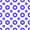 Векторный клипарт: Дэвид звезда Бесшовные фона. Символ религии
