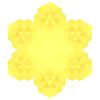 Векторный клипарт: Многоугольная Желтый Символ