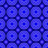 Векторный клипарт: Синий Дэвид звезда Бесшовные фона