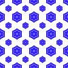 Векторный клипарт: Синий Дэвид звезды Бесшовные еврейским символом религии