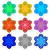 Векторный клипарт: набор красочных снежинок