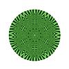 Векторный клипарт: Декоративные зеленый круглый шаблон