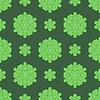 Векторный клипарт: Творческий Декоративные бесшовные зеленый узор