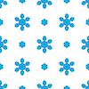 Векторный клипарт: Бесшовные синий Снежинка шаблон