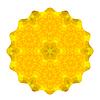 Векторный клипарт: Декоративные Желтый круглый шаблон