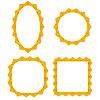 Векторный клипарт: Набор различных желтых фреймов