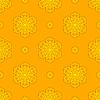 Векторный клипарт: Бесшовные Творческий орнамент желтый узор