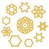 Векторный клипарт: Набор различных канатные украшения