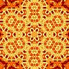 Векторный клипарт: Творческий Декоративные оранжевый шаблон