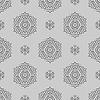 Векторный клипарт: Творческий Декоративные бесшовные Серый шаблон