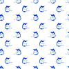 Векторный клипарт: Набор рыбы Marlin бесшовные модели