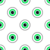 Green Eye Seamless Pattern