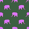 Pink Elephant Seamless Pattern | Stock Vector Graphics