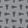 Metallic Seamless Grey Key Pattern | Stock Vector Graphics