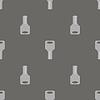 Seamless Grey Key Pattern | Stock Vector Graphics
