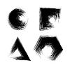 Set of Black Grunge Shapes | Stock Vector Graphics